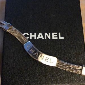 Chanel Vintage mesh ID bracelet❤️